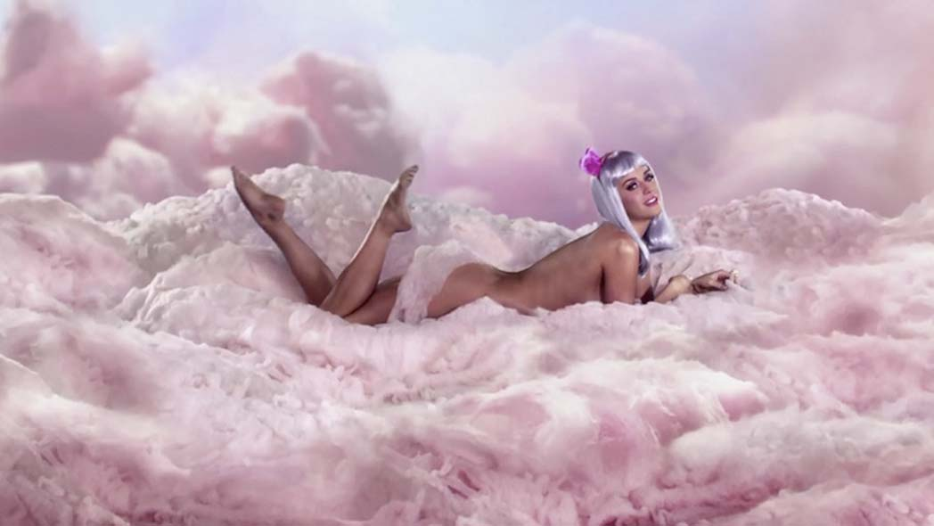 Video still from California Gurls music video.